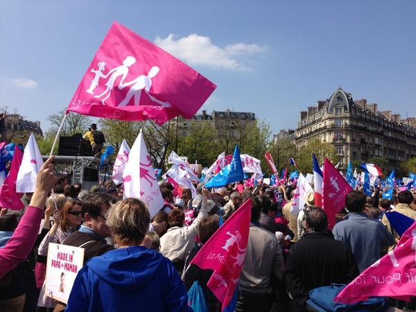 Manif pour tous le 21 avril 2013 Paris
