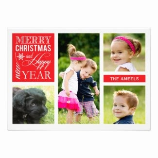 Personalised Merry Christmas Holiday Photo Cards