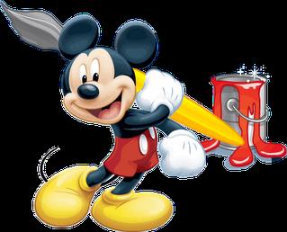 Desenho do Mickey colorido