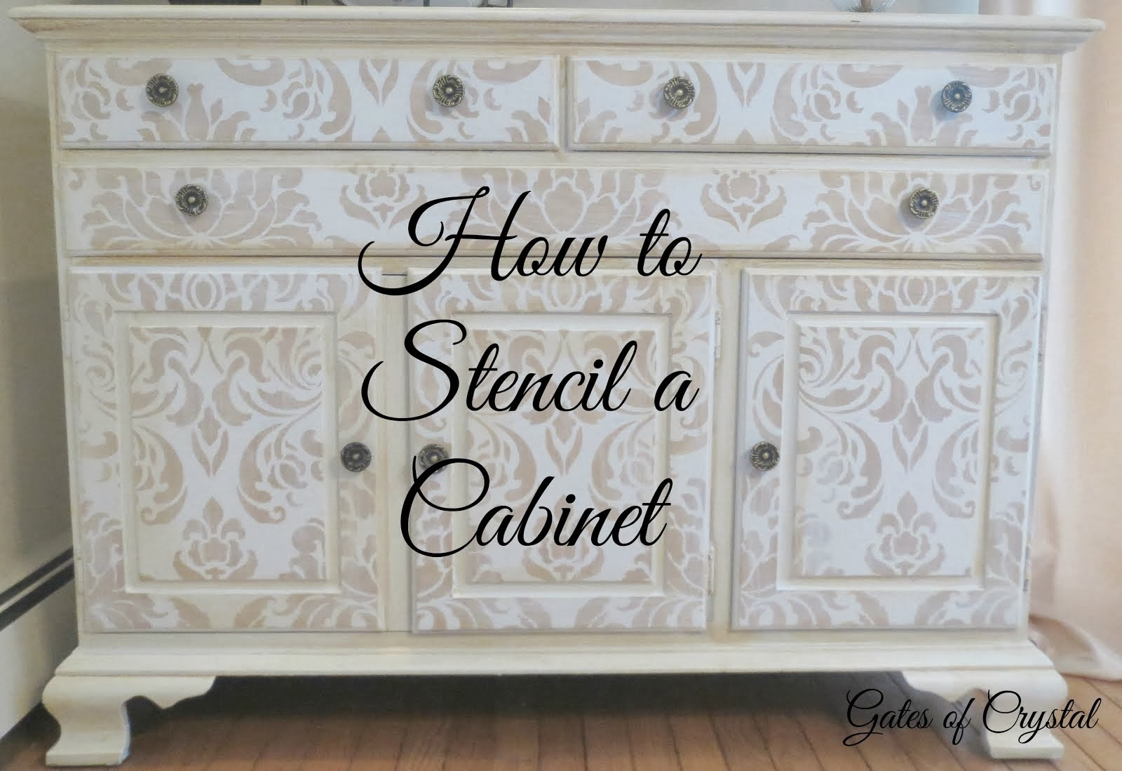 How to Stencil a Cabinet