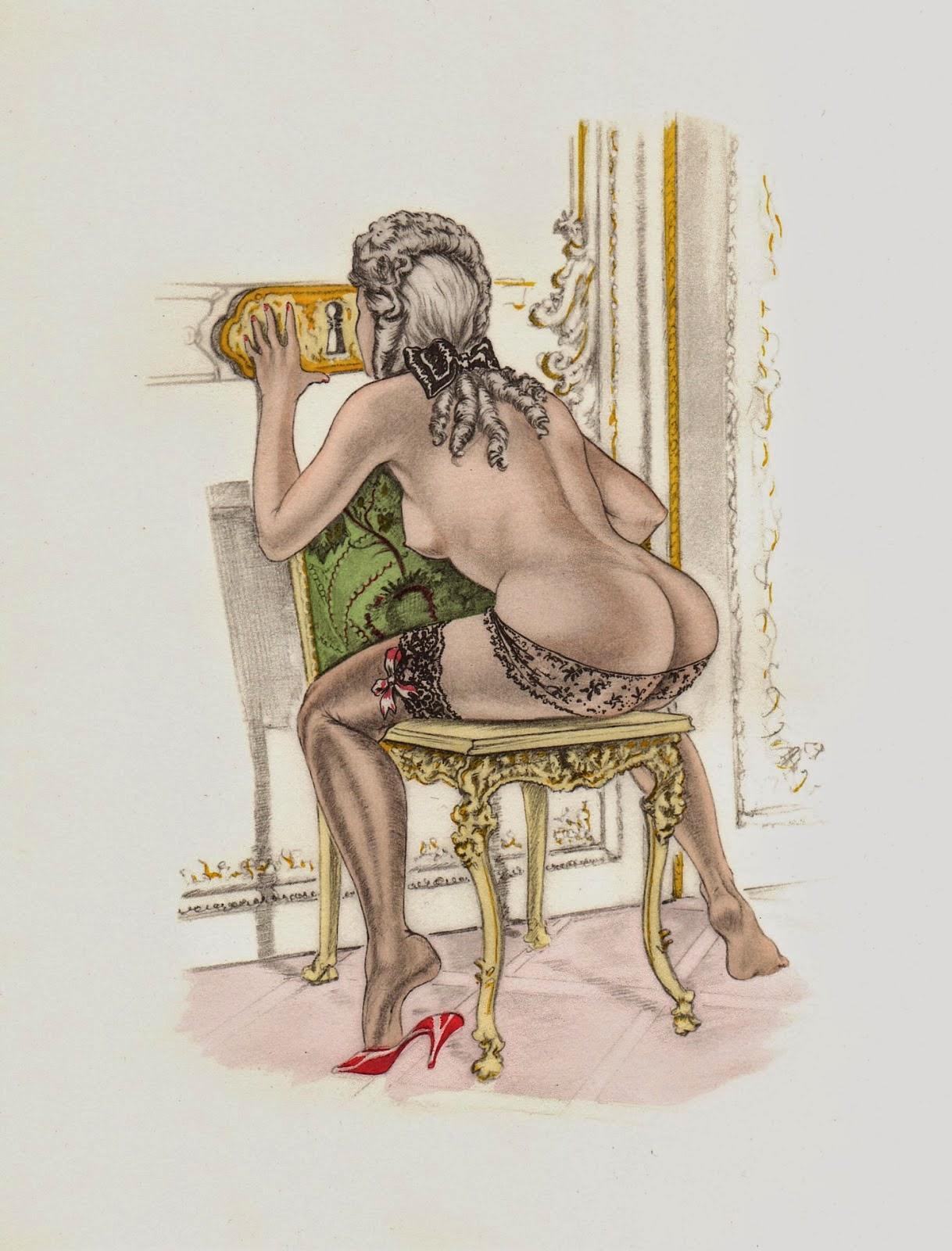 Эротические рисунки голых девушек и обнаженных женщин