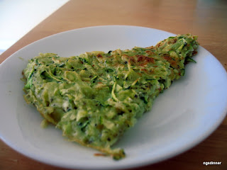 Zucchini Pancake or Kadoo Kookoo by ng @ what's for Dinner?