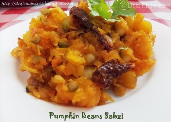 Pumpkin Beans/Mixed Pulses Sabji