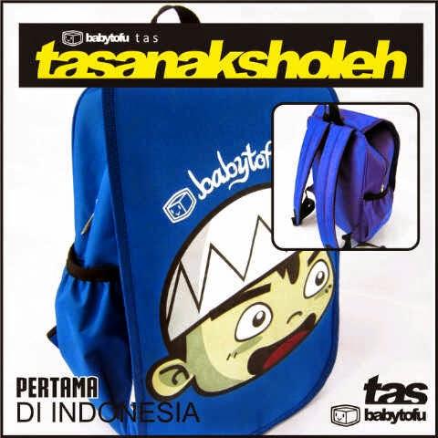 model baru tas anak sholeh biru