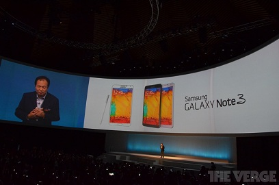 Officially announced Galaxy Note 3