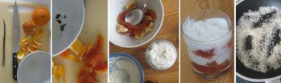 Zubereitung Winterlicher Amaranth-Joghurt-Pop mit Blutorangen und Banane