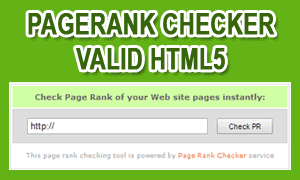 Pagerank Checker Tool Valid HTML5