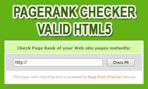 Membuat Pagerank Checker Tool Valid HTML5