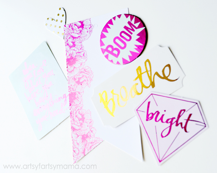 Easily add foil to Heaidi Swapp Minc accessories at artsyfartsymama.com #HSMinc