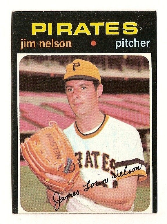 Jim Nelson 1971 baseball card