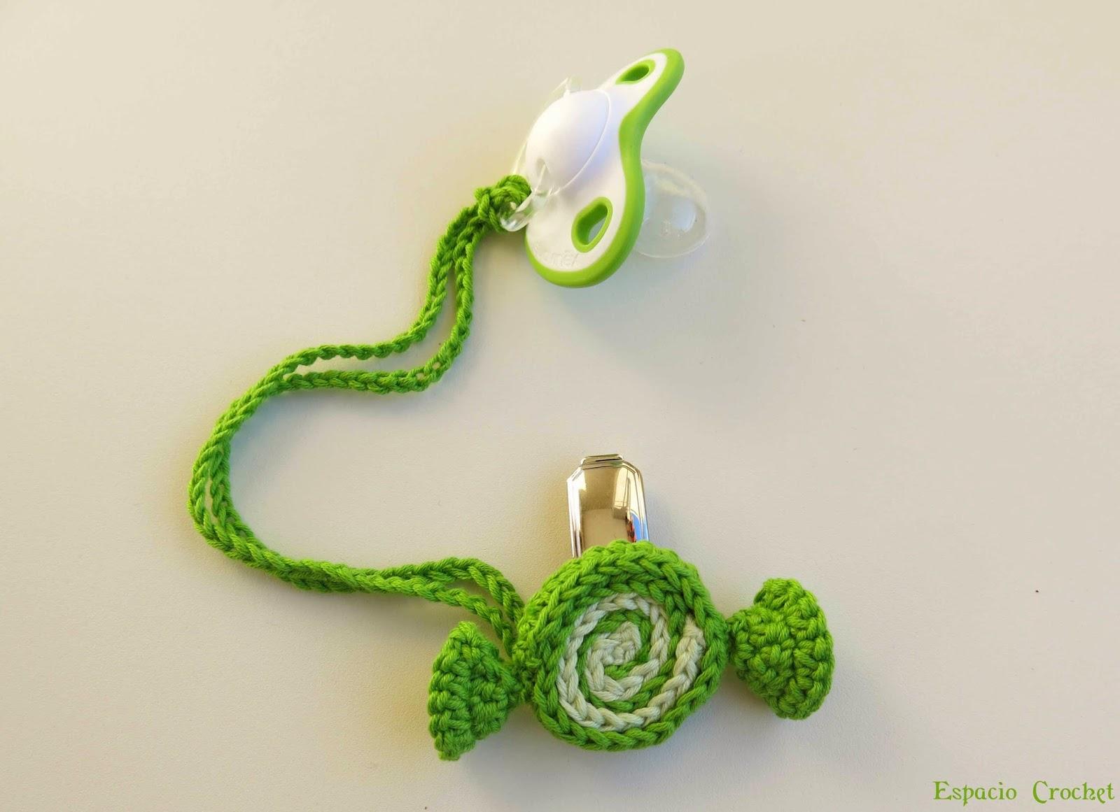 Sujeta chupete niño | Espacio Crochet