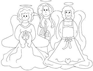 Riscos para pintura de anjos