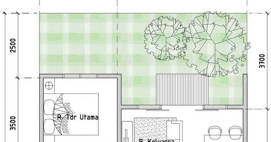 contoh denah desain rumah minimalis type 54 120 desain