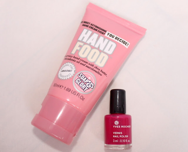 hand food de soap and glory yves rocher