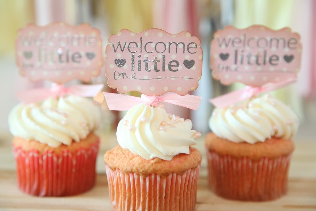 Unify handmade baby shower cupcake toppers with precious for Baby shower cupcake picks decoration