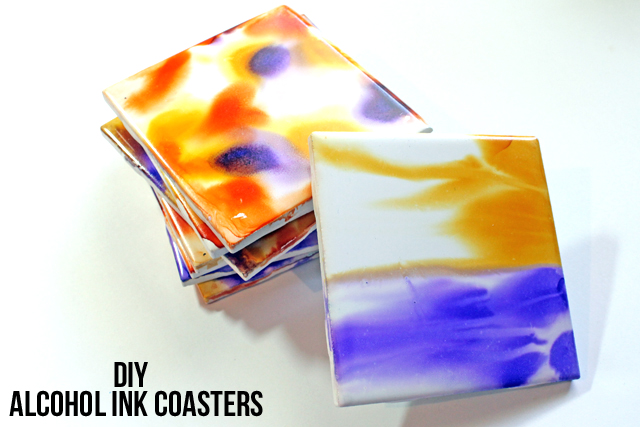 punk projects: DIY Alcohol Ink Coasters