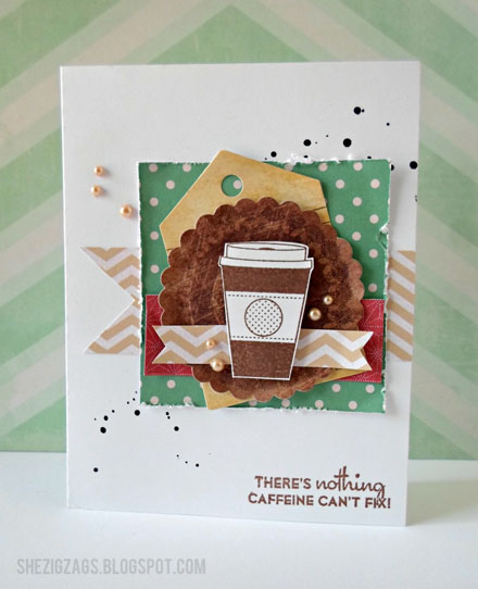 Market Street Stamps Coffee Card