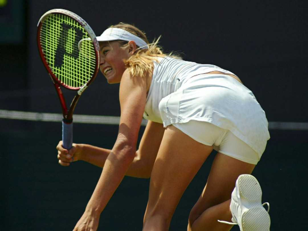 Vintage upload! Anna kournikova tennis upskirt awesome