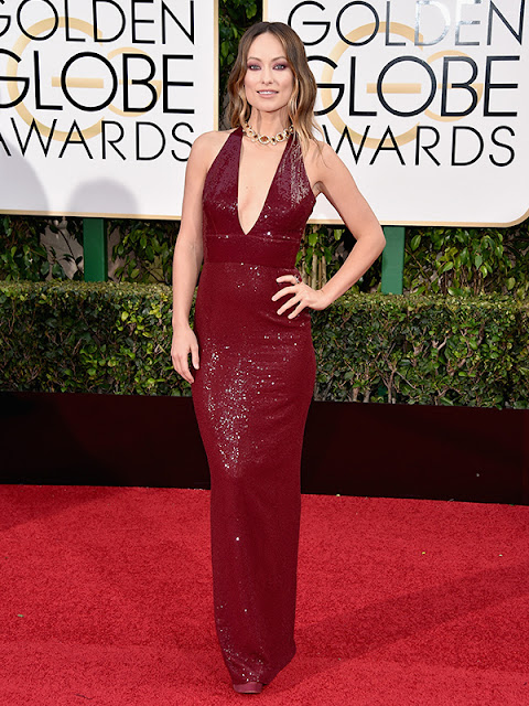 Olivia Wilde stuns at the Golden Globes 2016