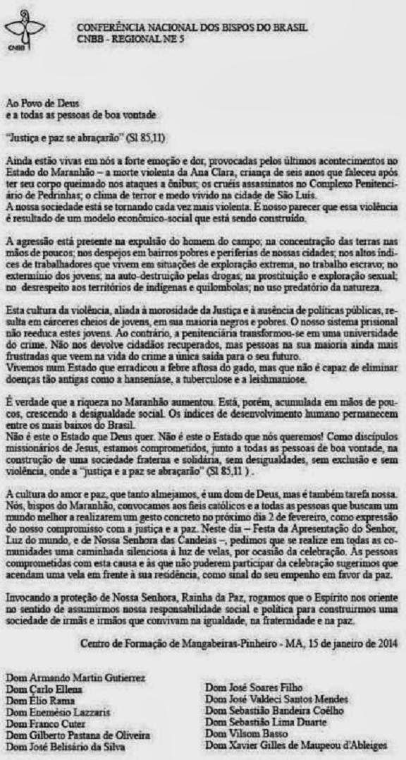 CARTA AOS MARANHENSES