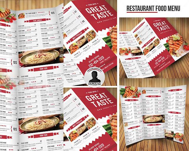 المجموعة الثامنة من منيوهات الطعام food menu design