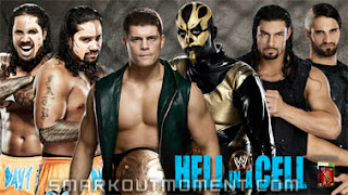 Cody Rhodes and Goldust vs Usos vs Shield Hell in a Cell 2013 PPV