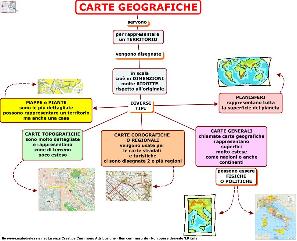 Diario di scuola le carte geografiche - Diversi tipi di carta ...
