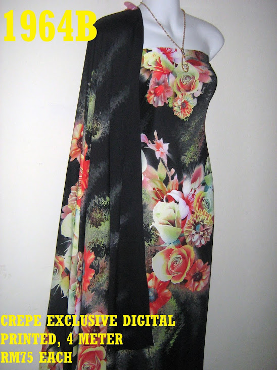 CDP 1964B: CREPE EXCLUSIVE DIGITAL PRINTED, 4 METER