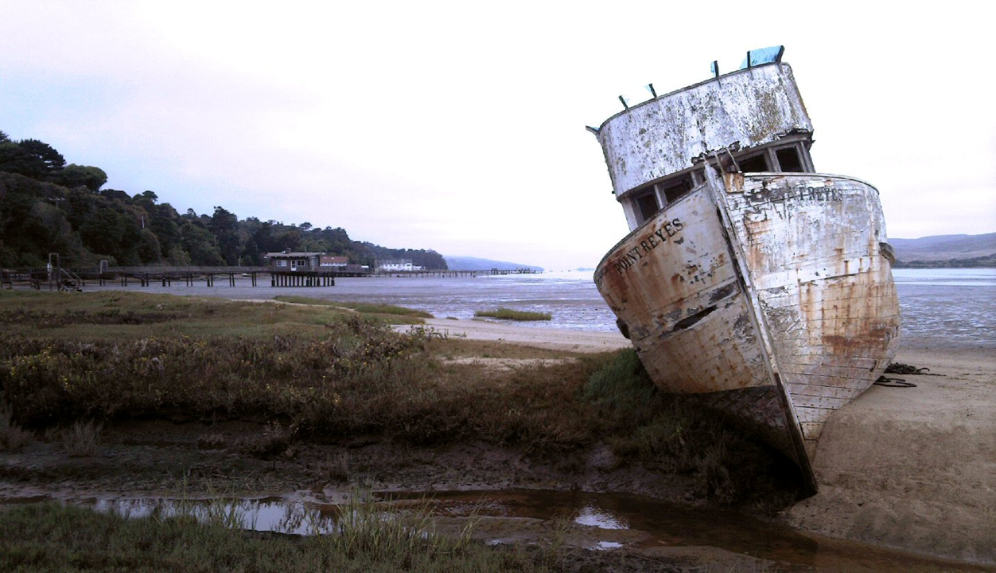 The POINT REYES, a boat lost in time and space and reason.