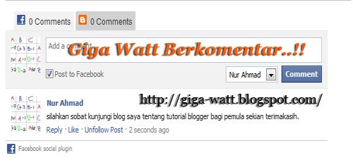 tab komentar-Giga Watt
