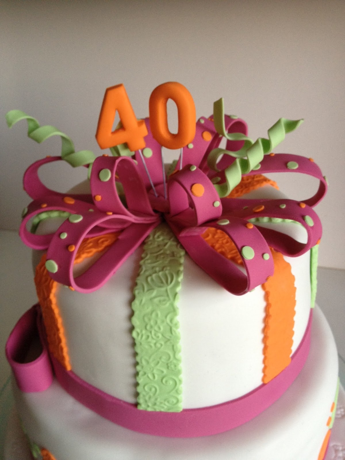 Cake Story By Jenty Sally Katharyn 40th Birthday