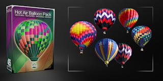 globos aerostaticos en formato PSD para diseño