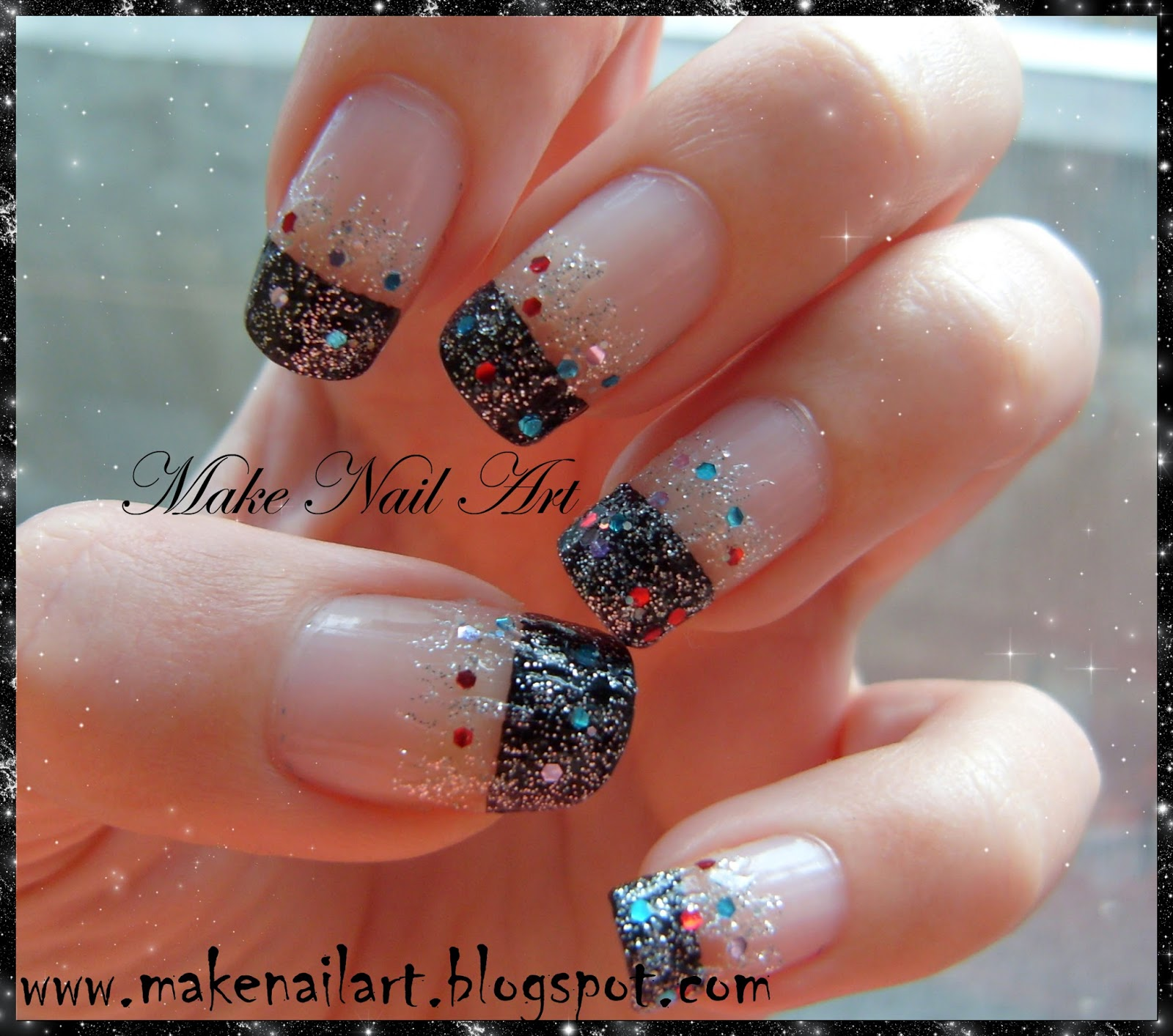 Make nail art december 2013 easy new years eve nail art tutorial prinsesfo Images