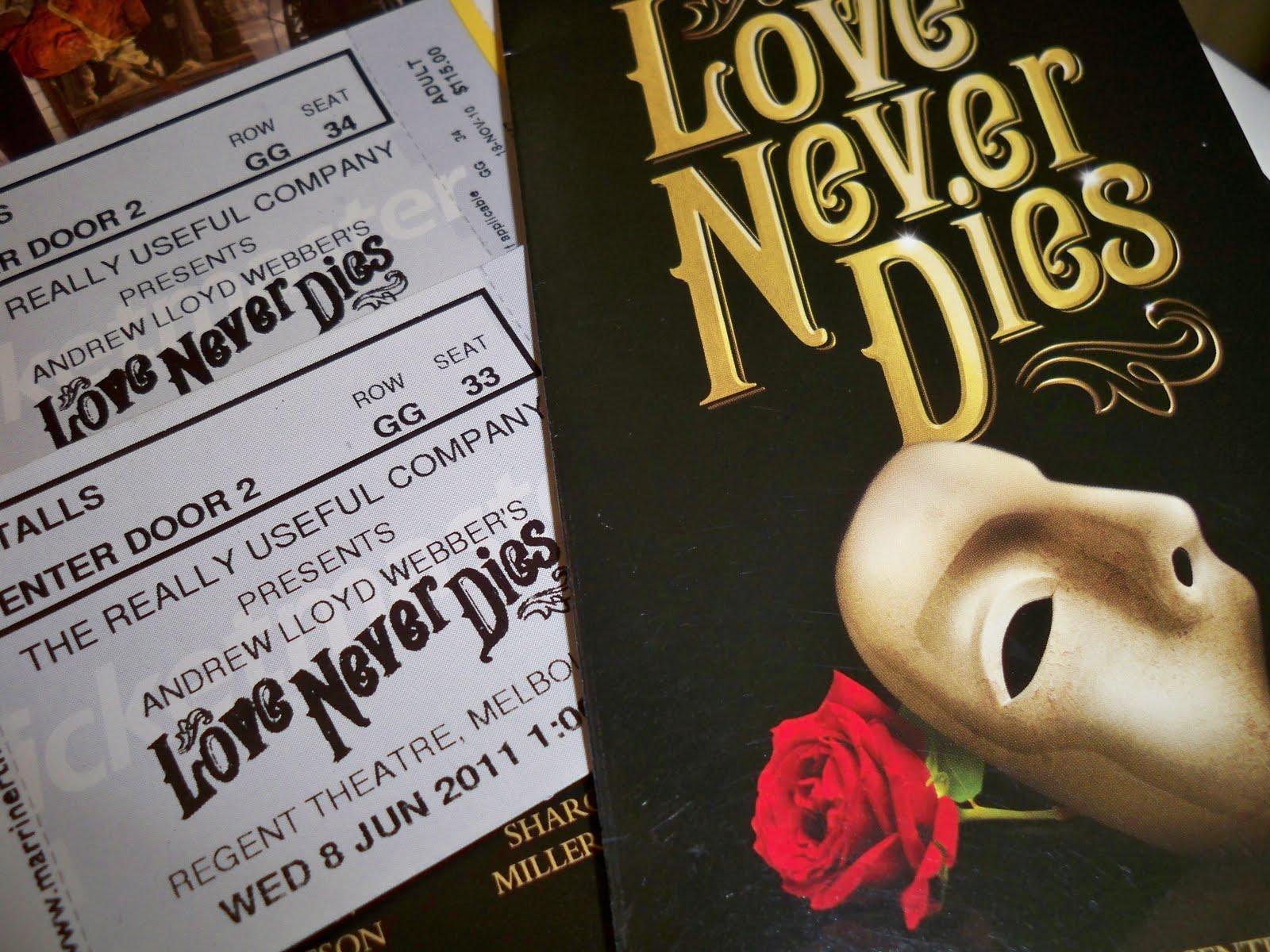 Love Never Dies Phantom Wallpaper Love Never Dies is Truly a
