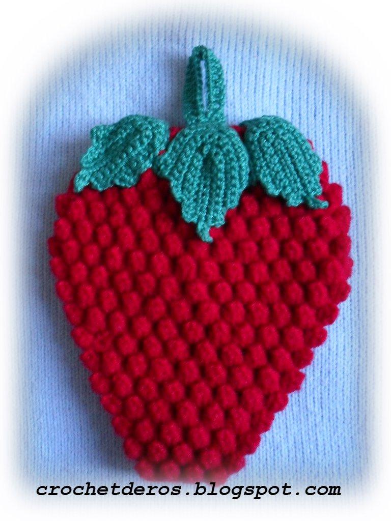 Agarraderas De Ollas Tejidos En Forma De Frutas | MEJOR CONJUNTO DE