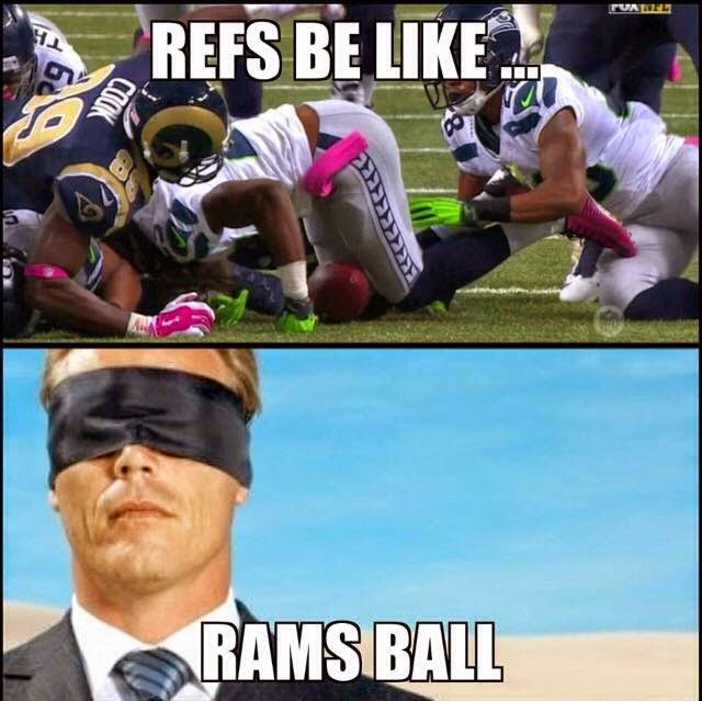 refs be like... rams ball