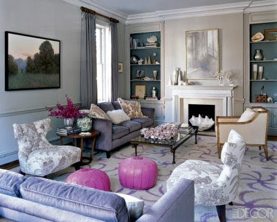 Grey Lilac Living Room