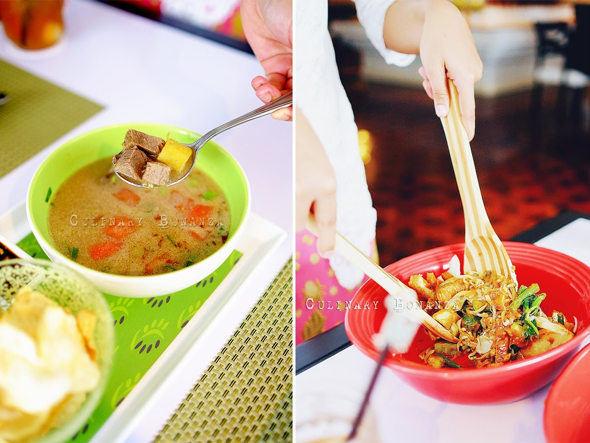 Left: Soto Betawi | Right: Gado Gado
