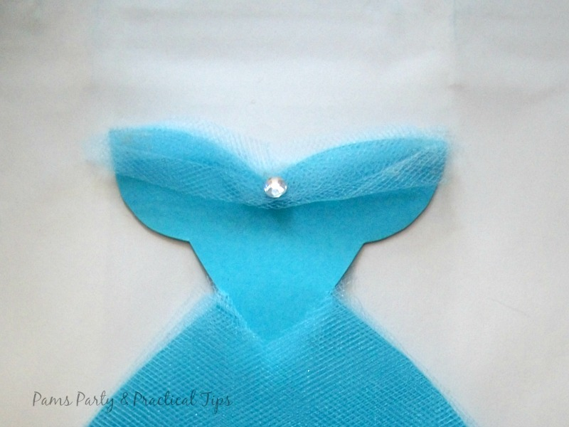 The bodice of the Cinderella gown