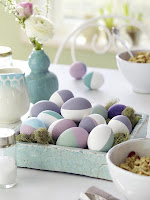Великденска украса на маса в пастелни цветове