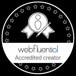 Webfluential Accredited Creator