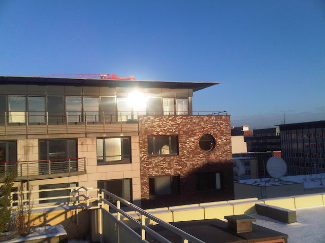 Hammerbrook - Häuserwand sonnenbeschienen