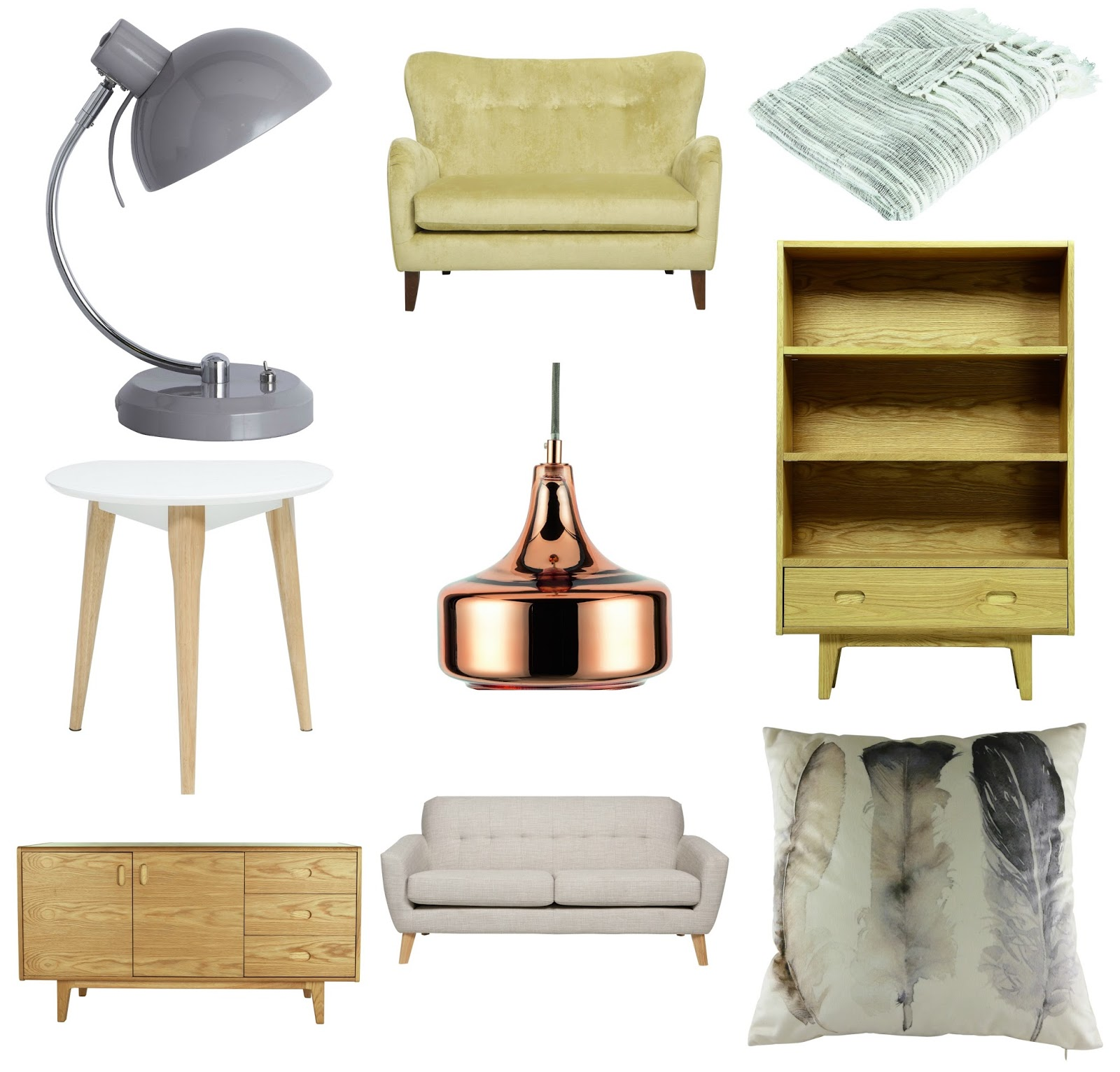 nostalgiecat Mid century Scandinavian style furniture for less