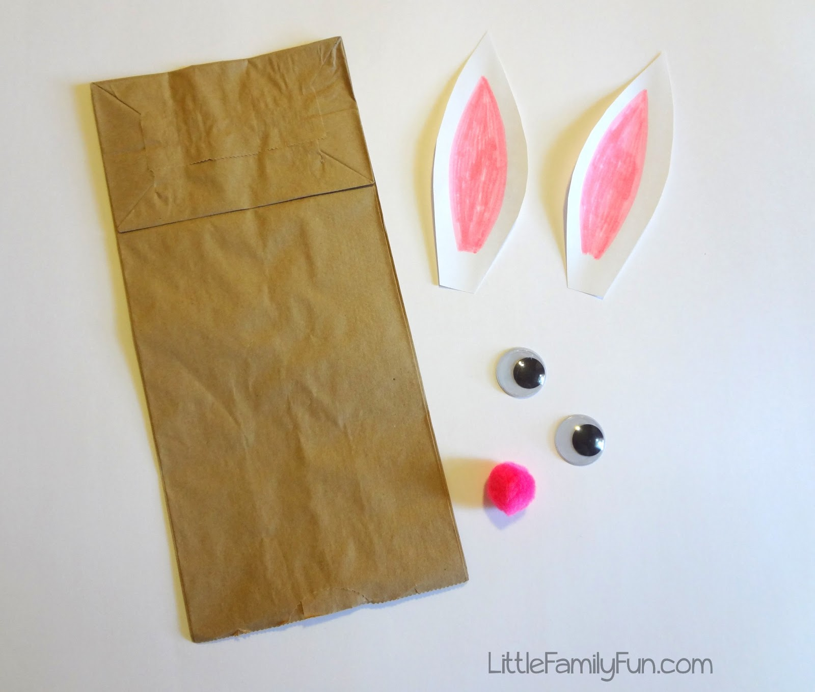 Little family fun brown bag bunny puppet brown bag bunny puppet jeuxipadfo Gallery