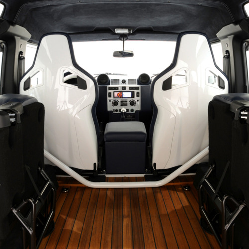 Interior Of A Land Rover Defender 90 Yachting Edition