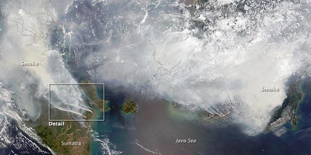 Foto Satelit NASA Ungkap Parahnya Kabut Asap Indonesia