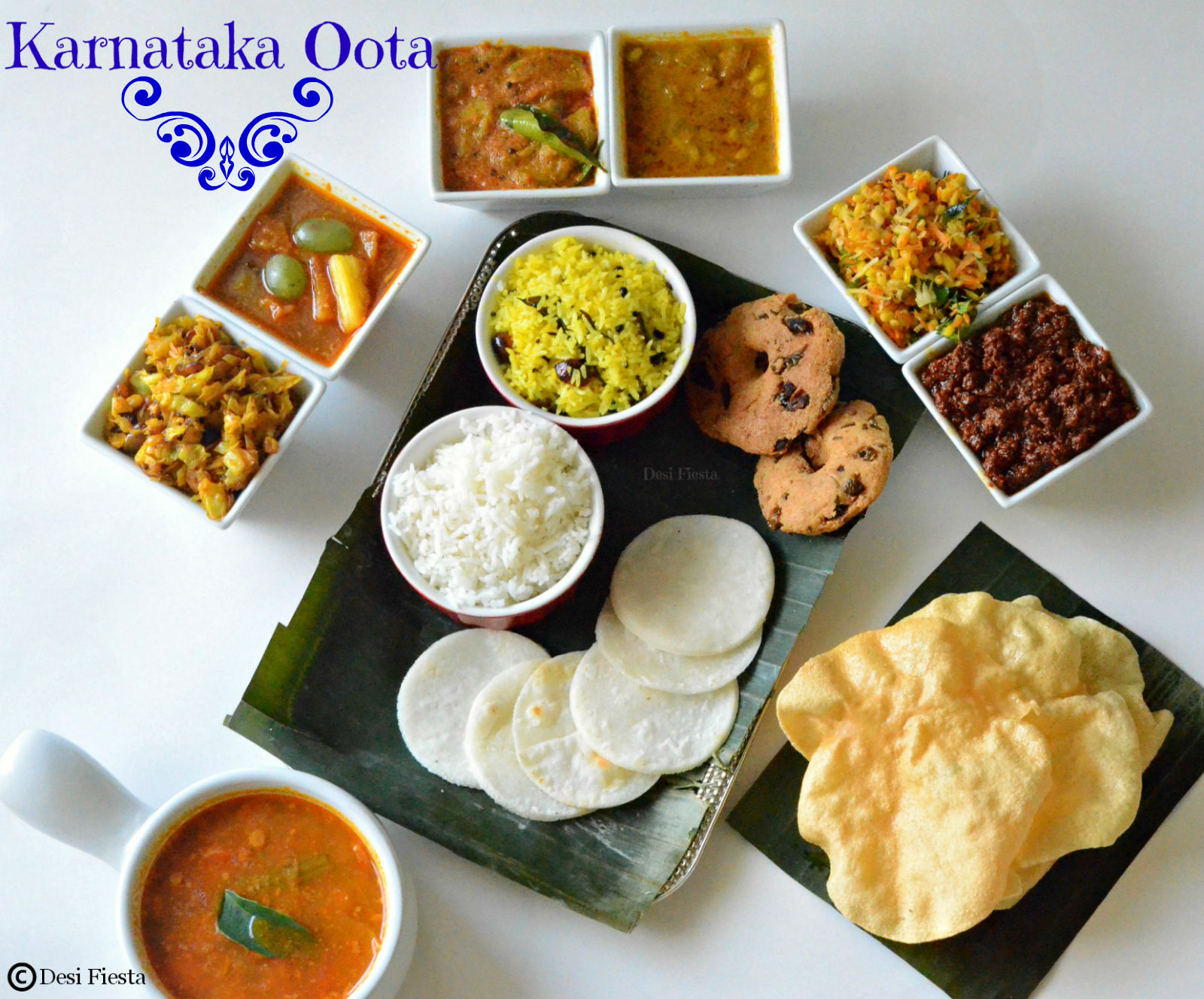 Karnataka oota kannadiga oota kannada thali by desi fiesta foodblogs forumfinder Image collections