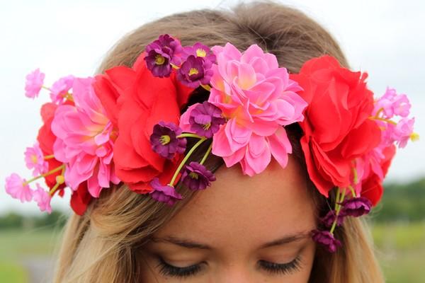 Headband grosses fleurs