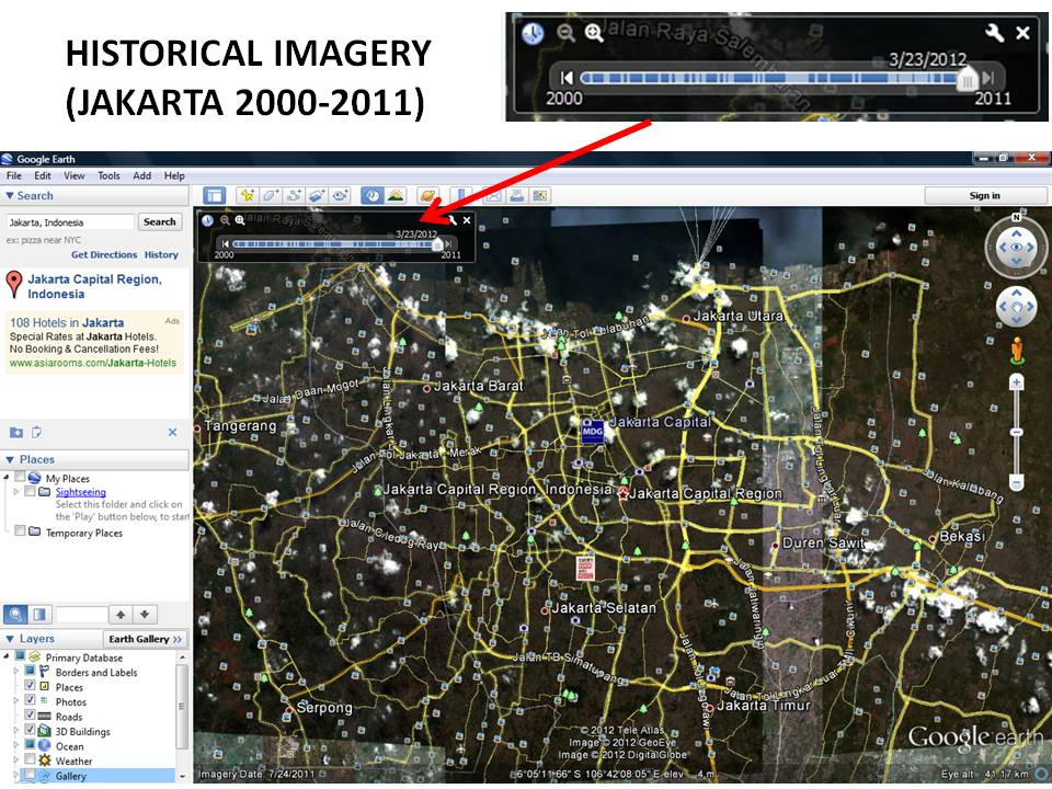 Google Earth made easy tutorial historical imagery places – View Street Map Google Earth