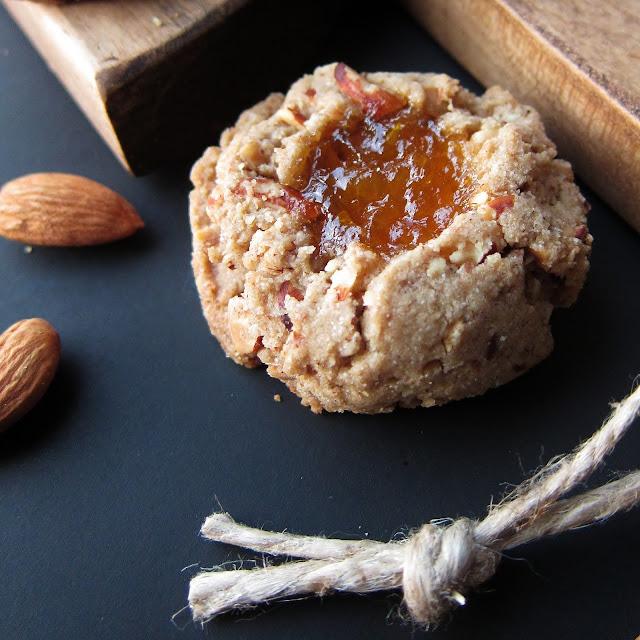 Arctic Garden Studio: Jammy Almond Thumbprint Cookies